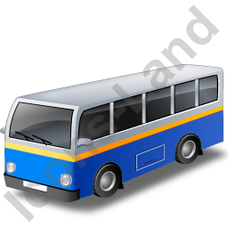 Transit Bus Blue Icon
