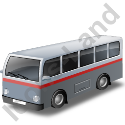 Transit Bus Grey Icon