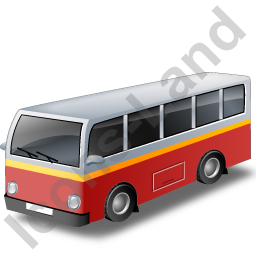 Transit Bus Red Icon, PNG/ICO, 256x256