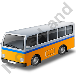 Transit Bus Yellow Icon, PNG/ICO, 256x256