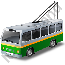 Trolleybus Green Icon
