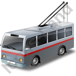 Trolleybus Grey Icon