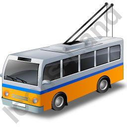 Trolleybus Yellow Icon, PNG/ICO, 256x256