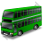 Double Decker Bus Green Icon, PNG/ICO, 48x48
