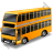 Double Decker Bus Yellow Icon
