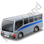 Commuter Bus Grey Icon