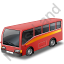 Commuter Bus Red Icon