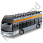 Double Decker Bus Open Top Grey Icon, PNG/ICO, 64x64