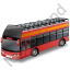 Double Decker Bus Open Top Red Icon, PNG/ICO, 64x64
