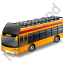 Double Decker Bus Open Top Yellow Icon
