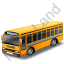 School Bus Grey Icon, PNG/ICO, 64x64