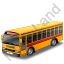 School Bus Red Icon