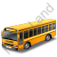 School Bus Yellow Icon