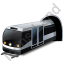 Subway Train Black Icon