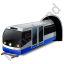 Subway Train Blue Icon, PNG/ICO, 64x64