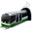Subway Train Green Icon
