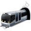Subway Train Grey Icon
