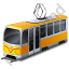 Tram Yellow Icon