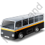 Transit Bus Black Icon, PNG/ICO, 64x64