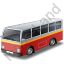 Transit Bus Red Icon, PNG/ICO, 64x64