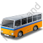 Transit Bus Yellow Icon, PNG/ICO, 64x64