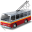 Trolleybus Red Icon
