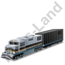 Diesel Locomotive Boxcar Black Icon