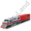 Diesel Locomotive Boxcar Red Icon
