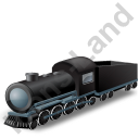 Steam Locomotive Tender Black Icon