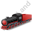 Steam Locomotive Tender Red Icon, PNG/ICO, 128x128