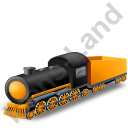 Steam Locomotive Tender Yellow Icon, PNG/ICO, 128x128