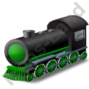 Steam Locomotive Green Icon
