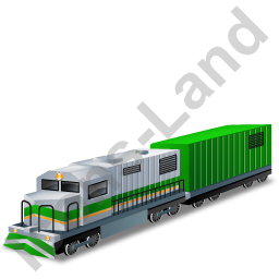 Diesel Locomotive Boxcar Green Icon