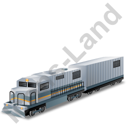 Diesel Locomotive Boxcar Grey Icon