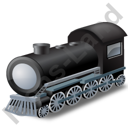 Steam Locomotive Grey Icon, PNG/ICO, 256x256
