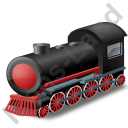 Steam Locomotive Red Icon