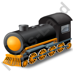 Steam Locomotive Yellow Icon