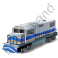 Diesel Locomotive Blue Icon
