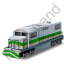Diesel Locomotive Green Icon
