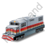 Diesel Locomotive Red Icon