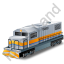 Diesel Locomotive Yellow Icon