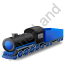 Steam Locomotive Tender Blue Icon, PNG/ICO, 64x64