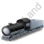 Steam Locomotive Tender Grey Icon, PNG/ICO, 64x64