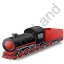 Steam Locomotive Tender Red Icon, PNG/ICO, 64x64