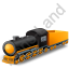 Steam Locomotive Tender Yellow Icon, PNG/ICO, 64x64