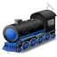 Steam Locomotive Blue Icon