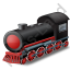 Steam Locomotive Red Icon, PNG/ICO, 64x64