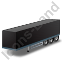 Box Trailer Black Icon