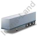 Box Trailer Grey Icon