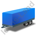 Car Trailer Blue Icon, PNG/ICO, 128x128